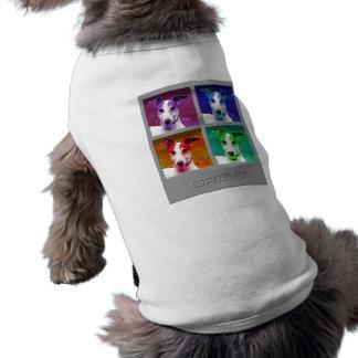 Homenaje del galgo a prenda mascota