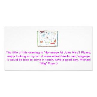 Homenaje en Joan Miro Tarjeta Personal