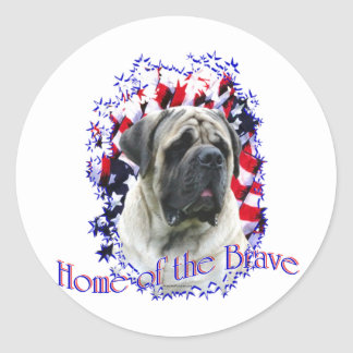 HomeoftheBrave Classic Round Sticker