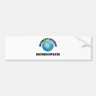 Homeopath más atractivo del mundo pegatina de parachoque
