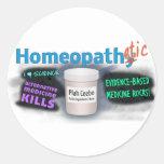 Homeopathetic Etiqueta Redonda