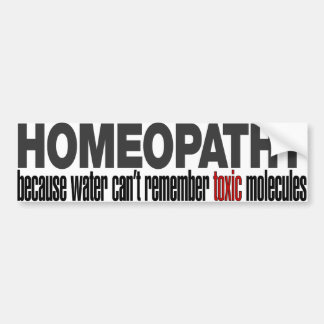 HOMEOPATHY BUMPER STICKER