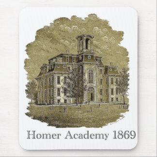 Homer Academy 1869 Engraving Mouse Pad