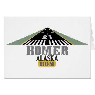 Homer Alaska - Airport Runway Card