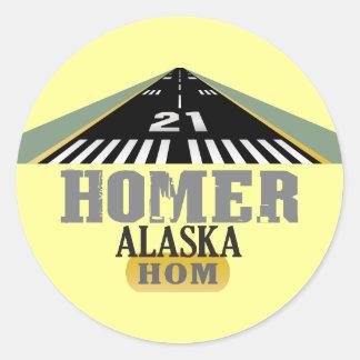 Homer Alaska - Airport Runway Classic Round Sticker