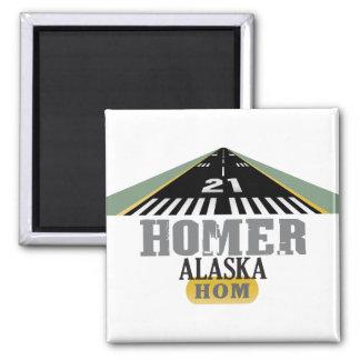 Homer Alaska - Airport Runway Magnets