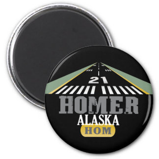 Homer Alaska - Airport Runway Fridge Magnet