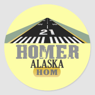 Homer Alaska - Airport Runway Stickers