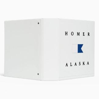 Homer Alaska Alpha Dive Flag 3 Ring Binder
