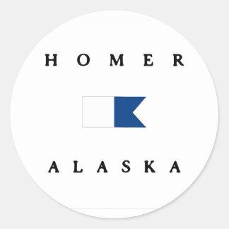 Homer Alaska Alpha Dive Flag Classic Round Sticker