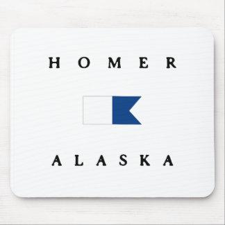 Homer Alaska Alpha Dive Flag Mouse Pads