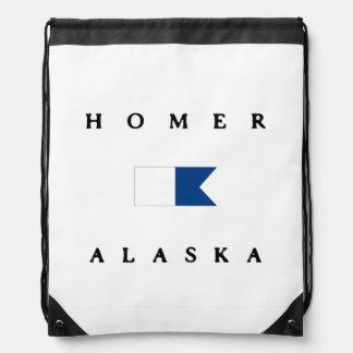Homer Alaska Alpha Dive Flag Cinch Bags