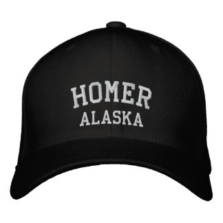 Homer, Alaska Embroidered Baseball Caps