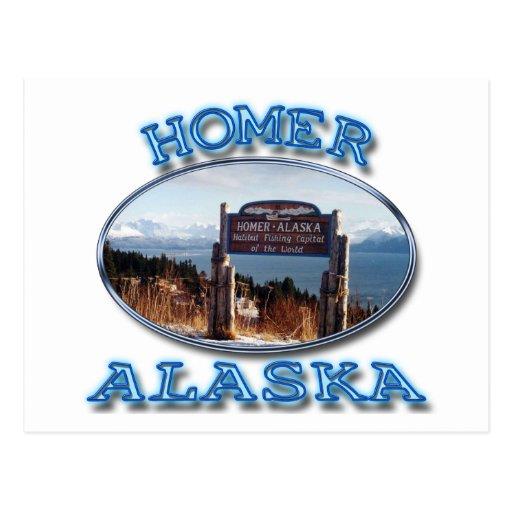 HOMER, ALASKA POSTCARD