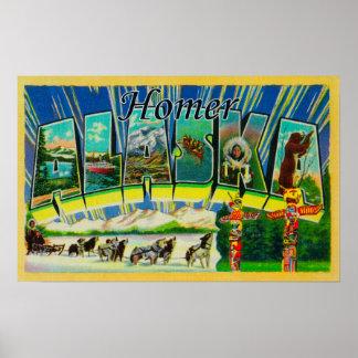 Homer, AlaskaLarge Letter ScenesHomer, AK Poster