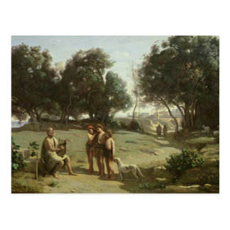 Homer and the Shepherds in a Landscape, 1845 Postcard