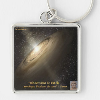 Homer & Astronomy Quote & Galaxy Keychain