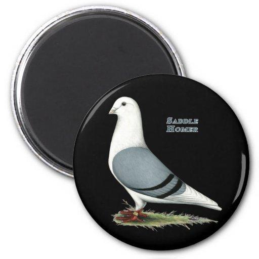 Homer Blue Saddle 2 Inch Round Magnet