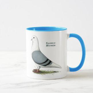 Homer Blue Saddle Mug