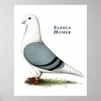Homer Blue Saddle Poster
