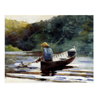Homer - Boy Fishing Postcard