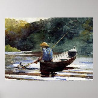 Homer - Boy Fishing Poster