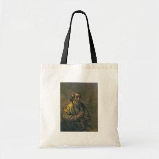 Homer. By Rembrandt Van Rijn  (Best Quality) Tote Bags