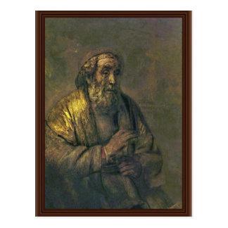 Homer. By Rembrandt Van Rijn  (Best Quality) Postcard