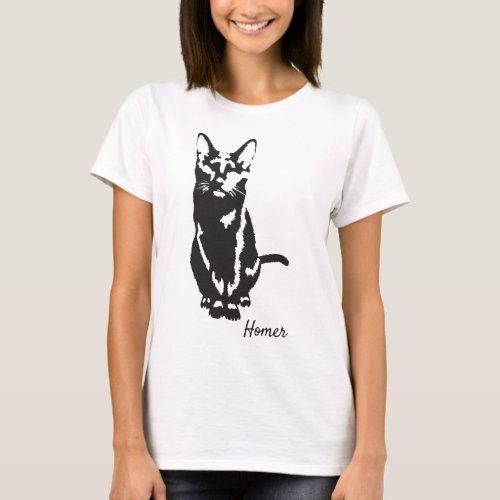 Homer Cat T_Shirts
