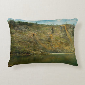Homer Dodge Martin - The Iron Mine, Port Henry Decorative Pillow