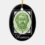Homer Double-Sided Oval Ceramic Christmas Ornament