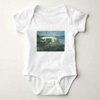 Homer Flower Garden and Bungalow Baby Bodysuit
