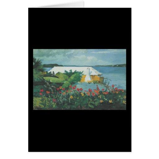Homer Flower Garden and Bungalow Card