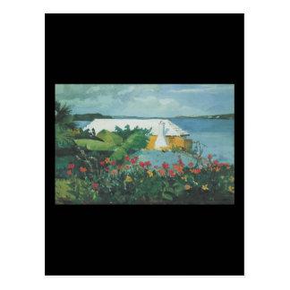 Homer Flower Garden and Bungalow Postcard