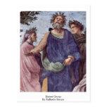 Homer Group By Raffaello Sanzio Post Cards