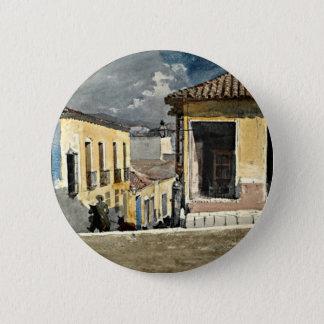 Homer: Santiago de Cuba Street Scene Pinback Button