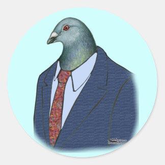 Homer Suit Classic Round Sticker