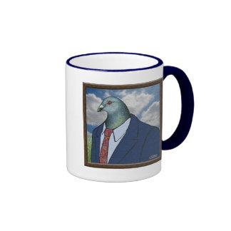 Homer Suit Framed Ringer Coffee Mug