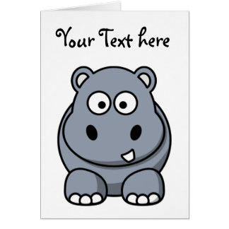 Homer the Huge Hippo Card