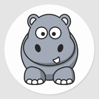Homer the Huge Hippo Classic Round Sticker