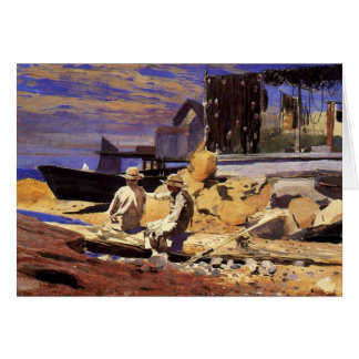 Homer - Waiting for the Boats Card