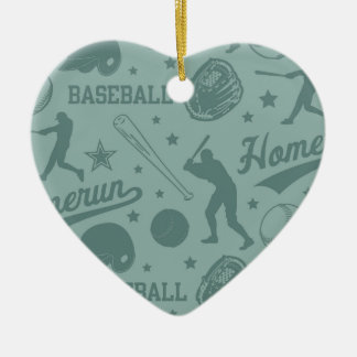 Homerun Baseball Ceramic Ornament