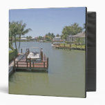 Homes and docks on canal Marco Island Florida Binders