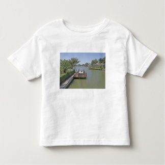 Homes and docks on canal Marco Island Florida Toddler T-shirt