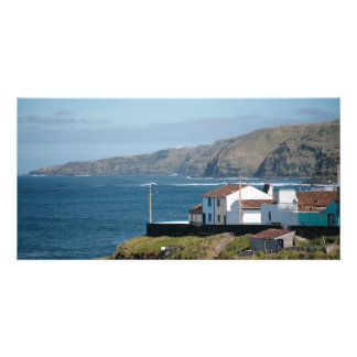 Homes by the sea photo card