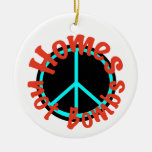 Homes not Bombs Christmas Tree Ornaments