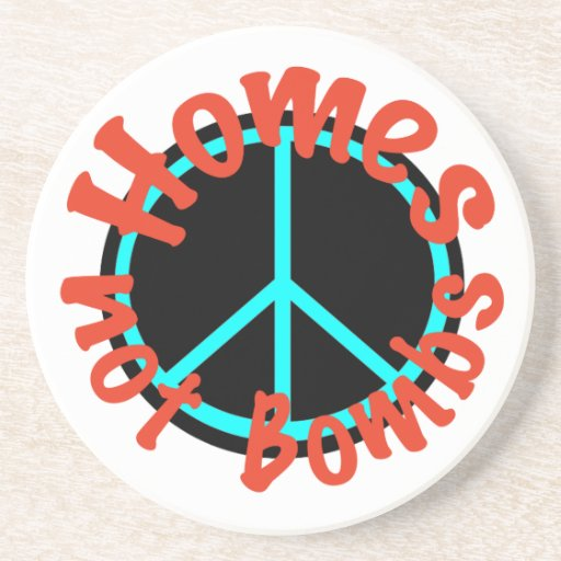 Homes not Bombs Drink Coasters