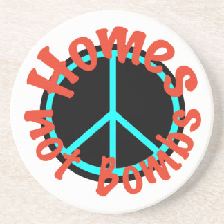 Homes not Bombs Sandstone Coaster
