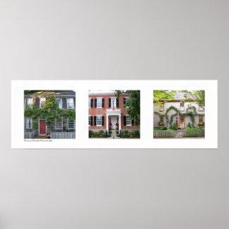 Homes of Nantucket, Massachusetts Triptych Poster