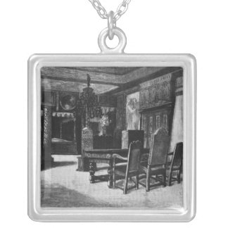 Homes of Victor Hugo Square Pendant Necklace